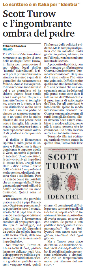 Intervista a Scott Turow